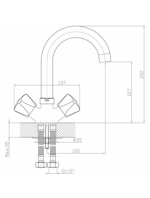 Смеситель Agger Retro-S A1801100 для раковины