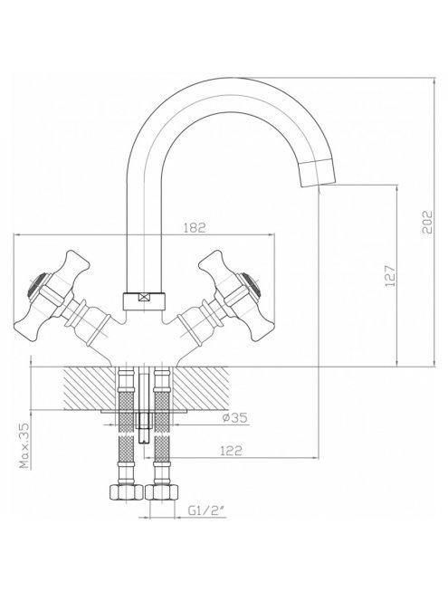 Смеситель Agger Retro-X A1701100 для раковины