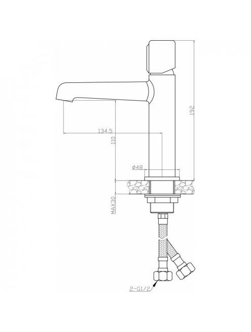 Смеситель Agger Slim А2202100 для раковины