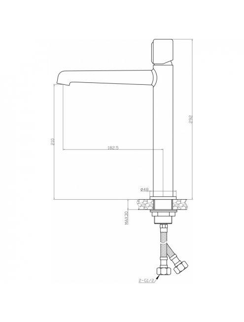 Смеситель Agger Slim А2212100 для раковины