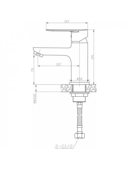Смеситель Agger Splendid A0902100 для раковины