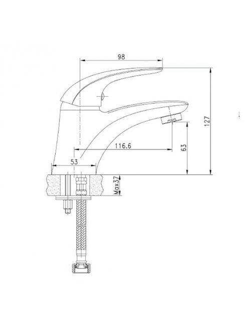 Смеситель Aquanet Cobra SD90363 для раковины