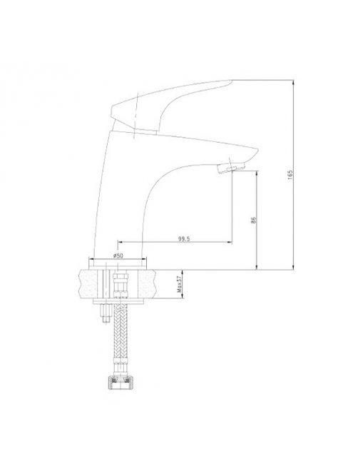 Смеситель Aquanet Techno SD90883 для раковины
