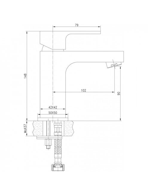 Смеситель Aquanet Cubic SD90443-2 для раковины