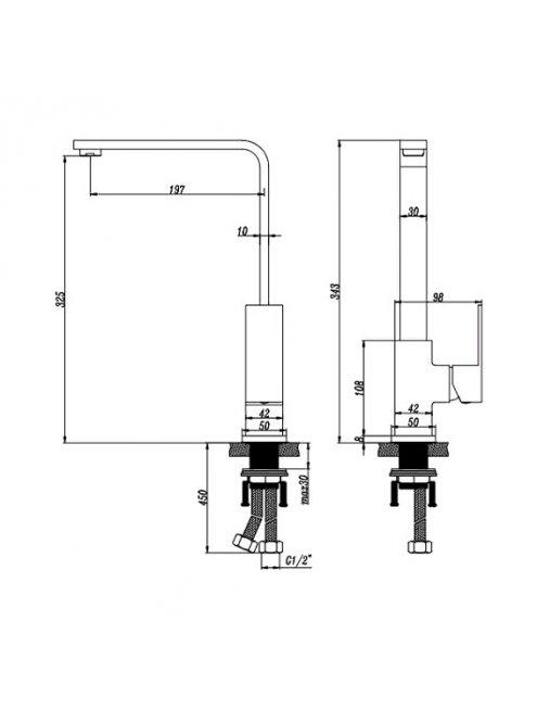 Смеситель Artik Grani К980 для раковины
