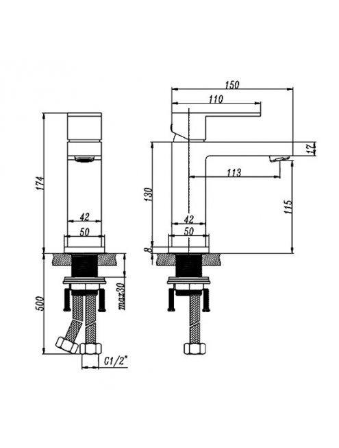 Смеситель Artik Grani A980 для раковины