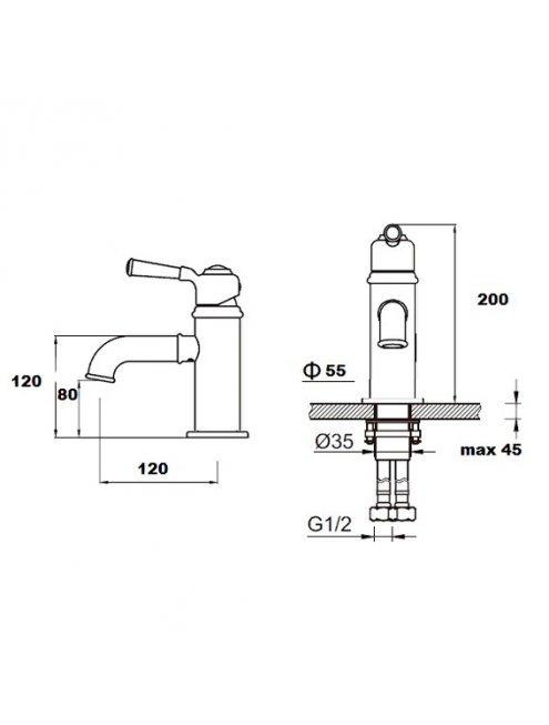 Смеситель Artik Perse A9055-OR для раковины