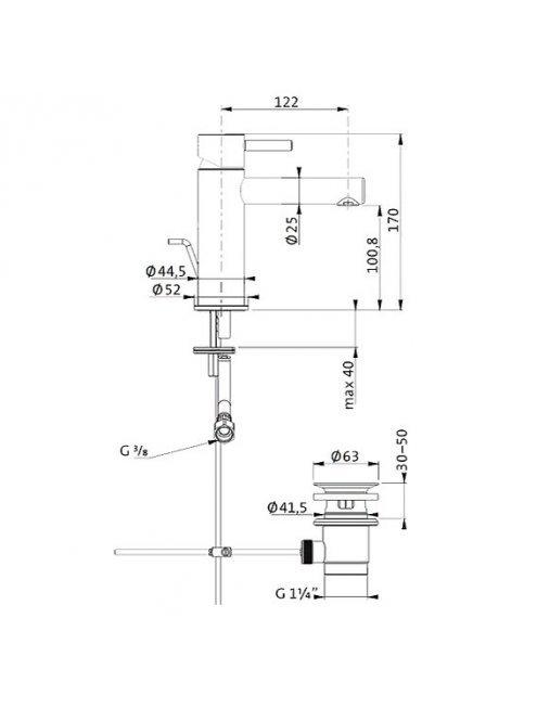 Смеситель Bagno & Associati Moderna IX90074 для раковины