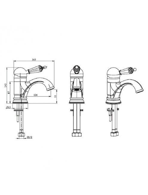 Смеситель Boheme Imperiale Presente 321 для раковины
