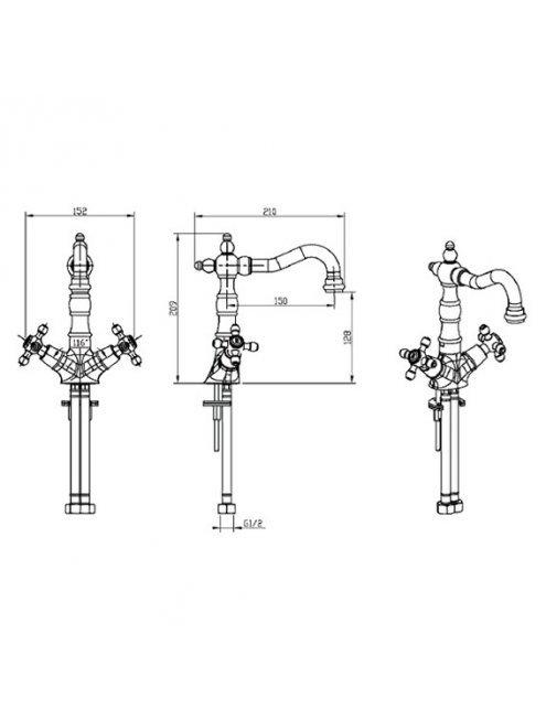 Смеситель Boheme Satin 292-ST для раковины