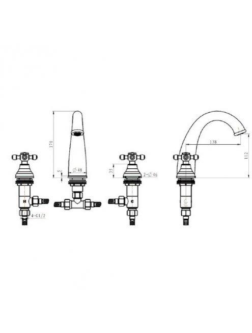Смеситель Boheme Satin 297-ST для раковины