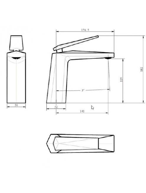 Смеситель Boheme Venturo 371-B для раковины