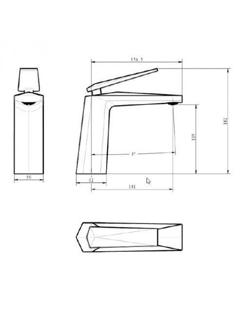 Смеситель Boheme Venturo 371-W для раковины