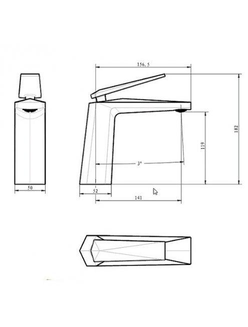 Смеситель Boheme Venturo 381 для раковины