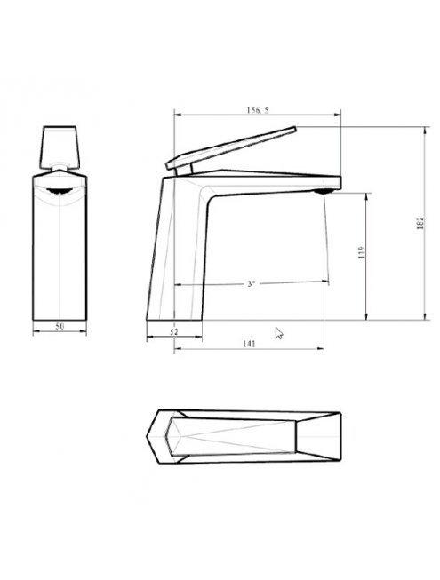 Смеситель Boheme Venturo 381-W для раковины