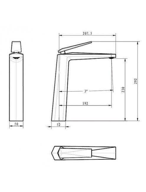 Смеситель Boheme Venturo 382-W для раковины