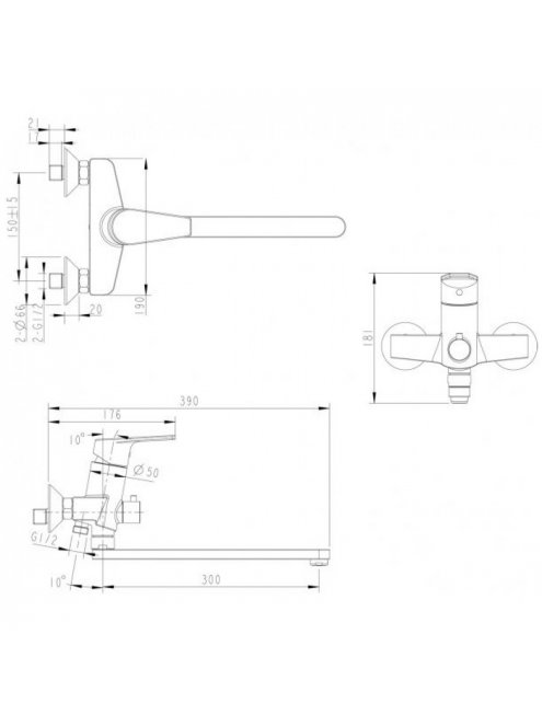 Смеситель Bravat Line F65299C-LB-RUS универсальный