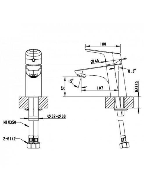 Смеситель Bravat Drop F14898C-1 для раковины