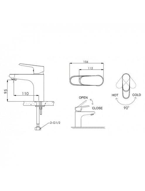 Смеситель Bravat Pure F1105161C для раковины