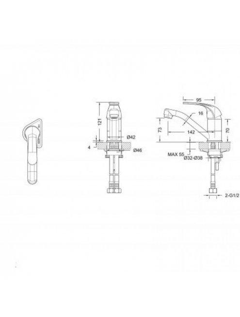 Смеситель Bravat Fit F1233188CP-RUS для раковины