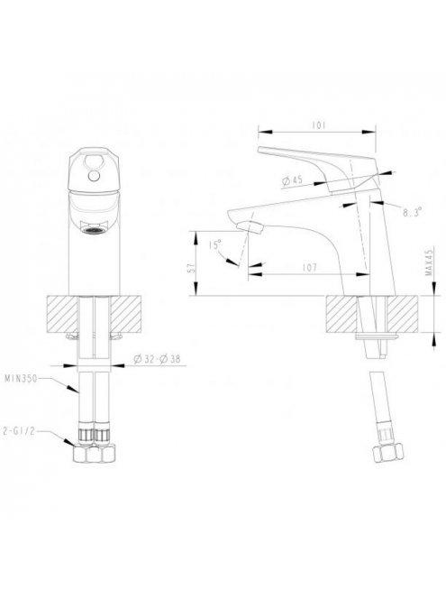 Смеситель Bravat Drop-D F148162C для раковины