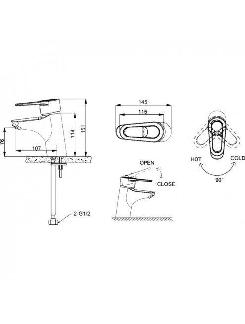 Смеситель Bravat Loop F1124182CP для раковины