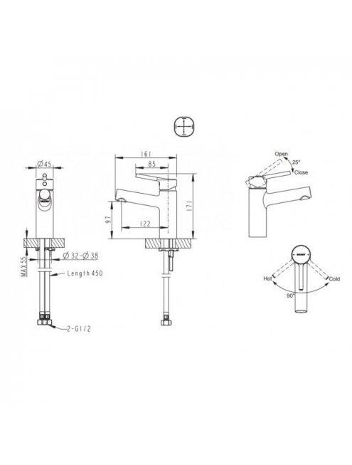 Смеситель Bravat Palace F1172217CP-RUS для раковины