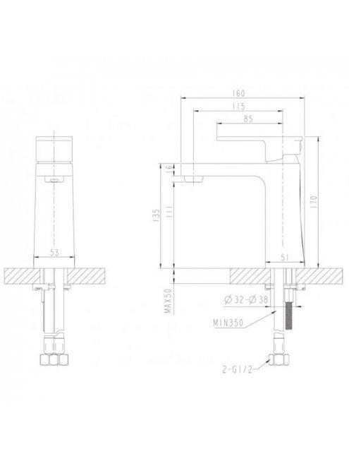 Смеситель Bravat Riffle F172106C для раковины