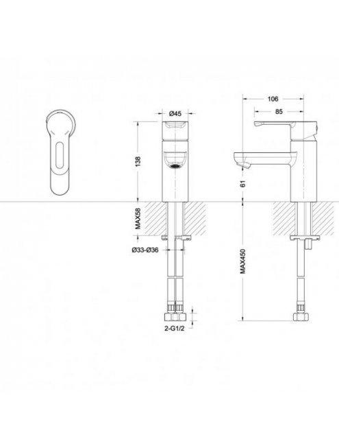 Смеситель Bravat Palace F1172217CP-A-RUS для раковины
