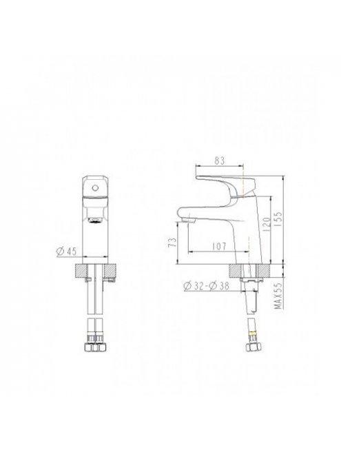 Смеситель Bravat Vega F1119177CP для раковины
