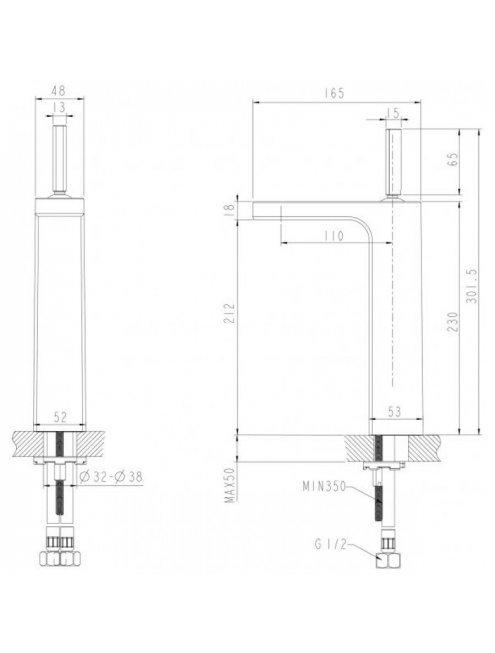 Смеситель Bravat Spring F179113C-A для раковины