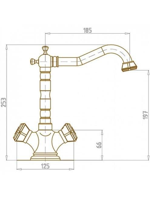 Смеситель Bronze de Luxe 10105/1 для раковины