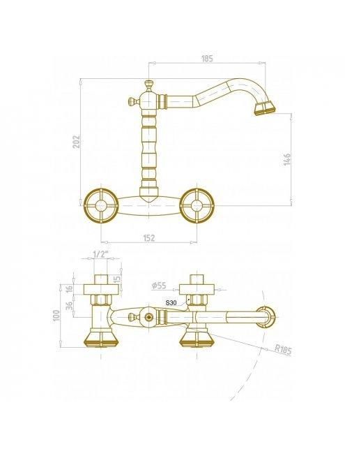 Смеситель Bronze de Luxe 10117 для раковины