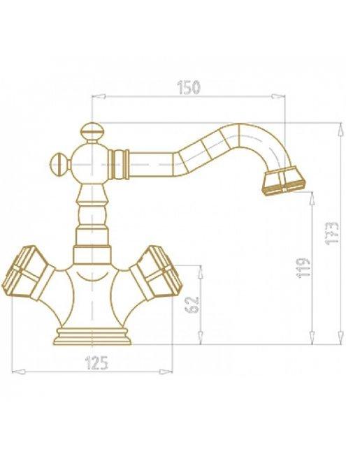 Смеситель Bronze de Luxe 10218/1 для раковины
