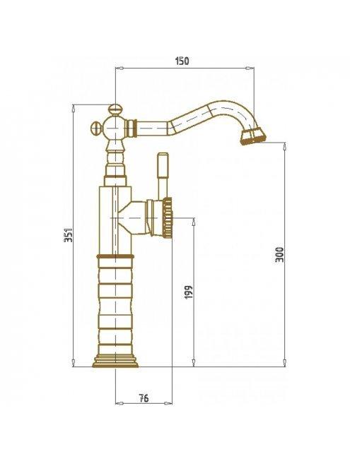 Смеситель Bronze de Luxe 21888 для раковины