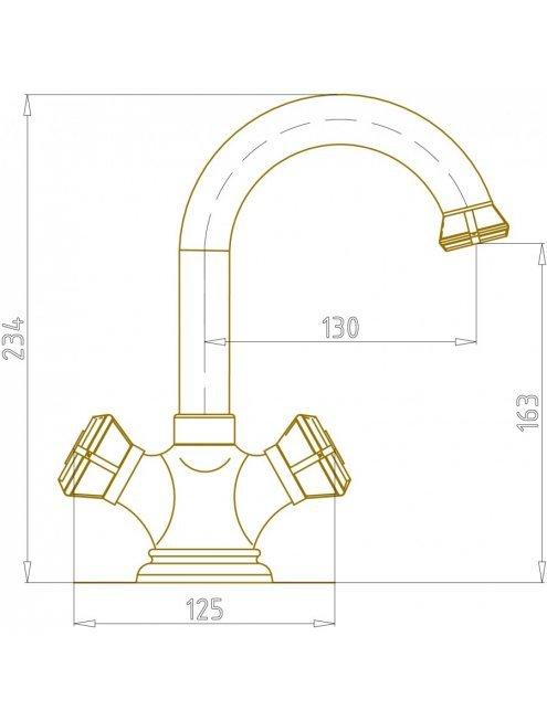 Смеситель Bronze de Luxe 21981 для раковины