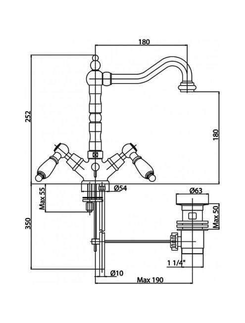 Смеситель Caprigo Adria Classic 03-025-crm для раковины