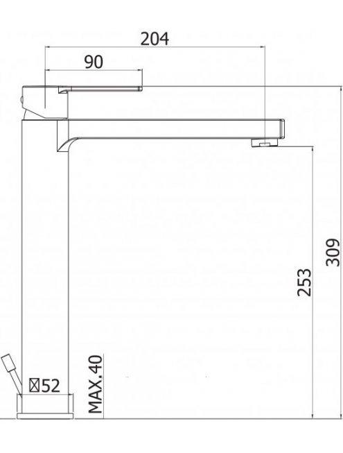 Смеситель Cezares Ovest LSM1-A-BIO для раковины, белый