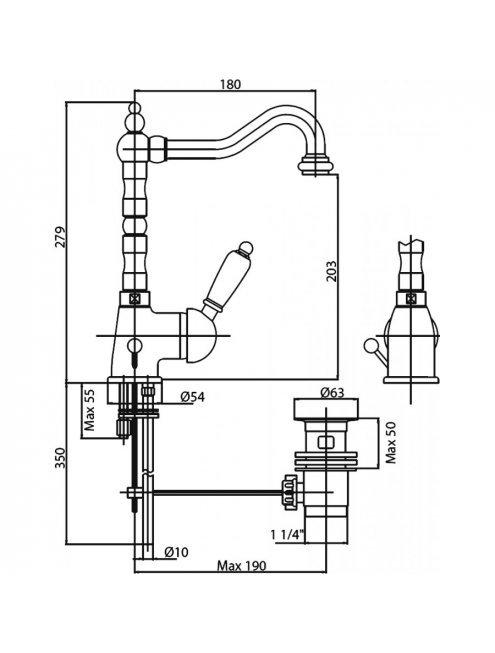 Смеситель Cezares Elite ELITE-LSM2-02-Bi для раковины