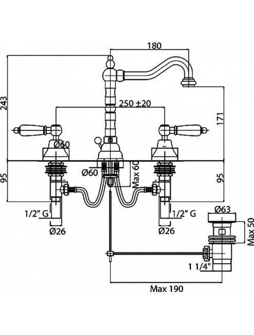 Смеситель Cezares First FIRST-BLS2-01-Bi для раковины
