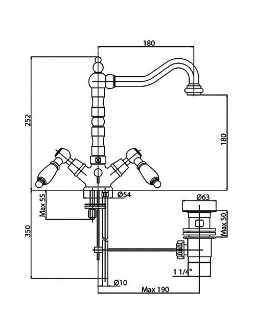 Смеситель Cezares First FIRST-LS2-01-Bi для раковины
