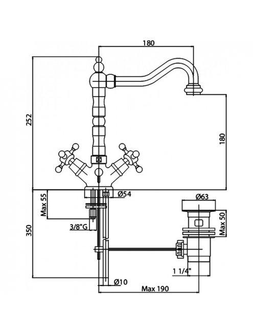 Смеситель Cezares Golf GOLF-LS2-01 для раковины