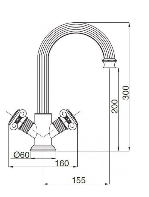 Смеситель Cezares Olimp LS2 02 M для раковины