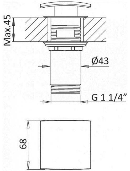 Смеситель Cezares Porta LC BIO для раковины