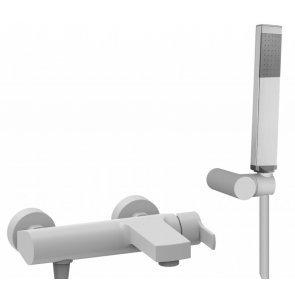 Смеситель Cezares Ovest VDM-BIO для ванны с душем, белый