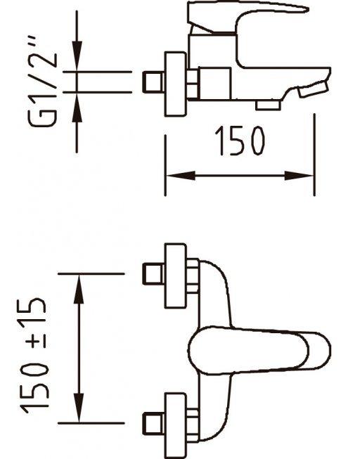 Смеситель Clever Bahama Xtreme 98280 для ванны с душем