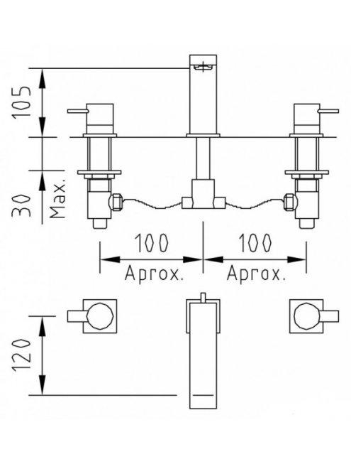 Смеситель Clever Bimini 97053 С ВНУТРЕННЕЙ ЧАСТЬЮ, для раковины