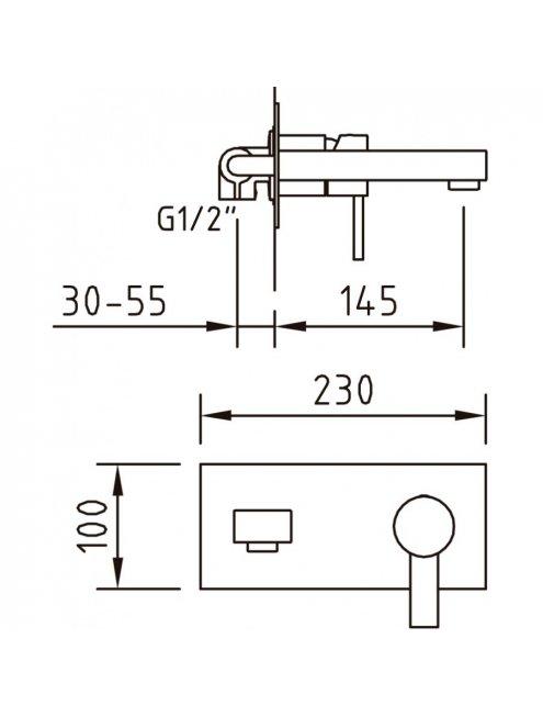 Смеситель Clever Bimini 97059 С ВНУТРЕННЕЙ ЧАСТЬЮ, для раковины