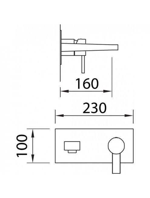 Смеситель Clever Bimini 98706 для раковины