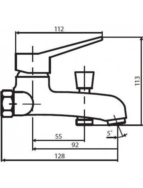 Смеситель Dorff Optima D2010000 для ванны с душем